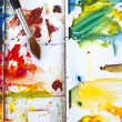 Watercolour paintbox — Stock Photo