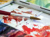 Artists watercolour paintbox — Stock Photo