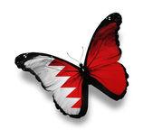 Papillon drapeau bahreïni, isolé sur blanc — Photo