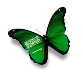Flag of Saudi Arabia butterfly, isolated on white — Stock Photo