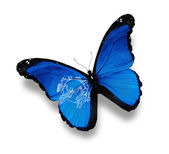 Vlajka upu motýla, izolované na bílém — Stock fotografie