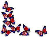 Korean flag butterflies, isolated on white background — Stock Photo