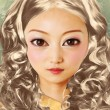 Woman doll face — Stockfoto