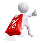 шоппинг показаны продажи — Стоковое фото