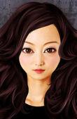 Kobieta lalka twarz — Zdjęcie stockowe