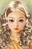 Woman doll face — 图库照片