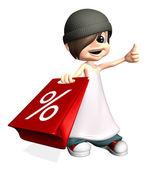 Alışveriş satış gösterme — Stok fotoğraf