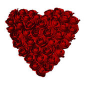 Heart shape with red roses — Stockfoto