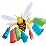 Shopping bee — Stock Photo
