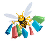 Shopping bee — Stock Photo