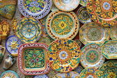 Typical souvenirs of Sicily - colorful plates — Stock Photo
