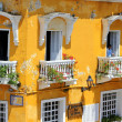 Balconies of Cartagena, Colombia - Stock Photo