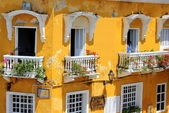 Balconies of Cartagena, Colombia — Stock Photo
