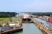 From Gatun lake to the Panama Canal — Stock Photo