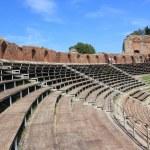 Antique amphitheater Teatro Greco, Taormina — Stock Photo #8979214