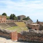 Antique amphitheater Teatro Greco, Taormina — Stock Photo #8979250