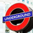 London's Underground Sign - Stock Photo