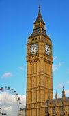 Big ben ve london eye — Stok fotoğraf