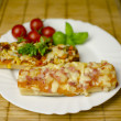 Baguette pizza — Stock Photo