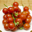 Tomatoes on a plate — Stock Photo
