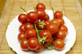 Tomatoes on a plate — Foto de Stock