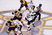 Crosby and Krejci Face-off (NHL Hockey) — Stock Photo
