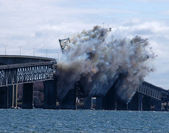 Bridge Demolition — Stock Photo