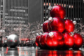 Christmas balls in Manhattan, NYC. — Stock Photo