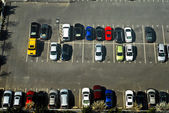 Overview of a parking lot — Stock Photo