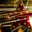 Christmas tree star and  light trails — Stock Photo