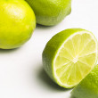 Green Lime cutted onhalf — Stock Photo