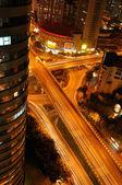 Nacht uitzicht op de stad van Tsjoengking — Stockfoto