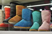 Colorful felt boots — Stock Photo