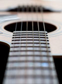 Close-up of a guitar neck with all strings — Stock Photo