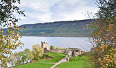 Urquhart Castle overlooking Loch Ness — Stock Photo