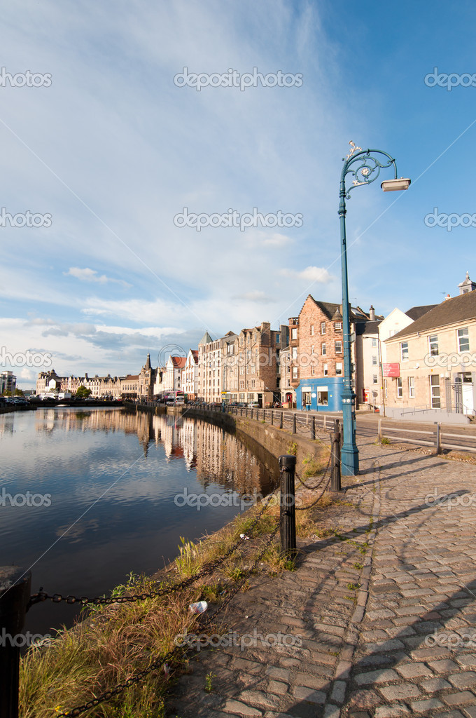 Leith harbour - Edinburgh, Scotland — Stock Photo #9616503