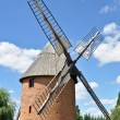 Old renovated windmill — Stock Photo