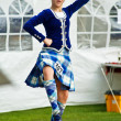 Stok fotoğraf: Scottish girl dancer performs traditional dance