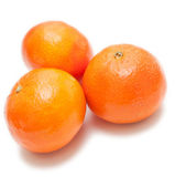 Clementines on white background — Stock Photo