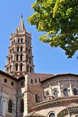 St sernin bazilika toulouse — Stok fotoğraf