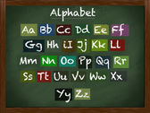 Büyük harf ve küçük harf alfabe — Stok fotoğraf
