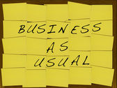 Business as usual — Stock Photo