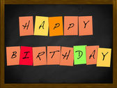 Happy Birthday on a blackboard — Foto de Stock