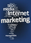 Nuvem de texto Internet marketing — Fotografia Stock