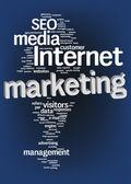 Internet marketing text cloud — Stock Photo
