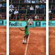 Rafel Nadal Service action — Stock Photo