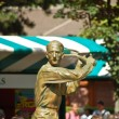 Stock Photo: Statue of Jacques Brugnon, Place des Mousquetaires at Roland Garros