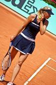 Maria sharapova roland garros 2008 yılında bir maç sırasında — Stok fotoğraf