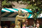 Jacques brugnon, place des mousquetaires roland garros itibariyle heykeli — Stok fotoğraf