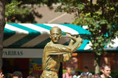 Statue of Jacques Brugnon, Place des Mousquetaires at Roland Garros — Stock Photo